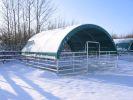 02 - (MC) mobilný prístrešok so vstupnou bránkou pre hosp. zvieratá  MC 6x6m  v zime